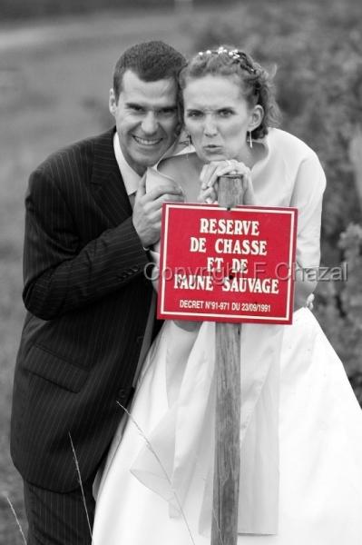 mariage,photo,insolite_58 , Mariés  réserve de chasse